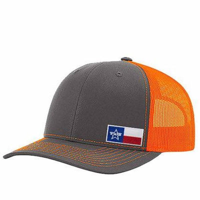 Frio Richardson 112 Black/ Black Mesh Cap w/ Frio Texas Flag Badge - Frio Ice Chests