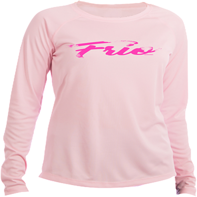 Frio Script Ladies Long Sleeve- Pink Blossom - Frio Ice Chests