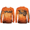 Frio Performance L/S Fishing Shirt w/ Bull Red Art
