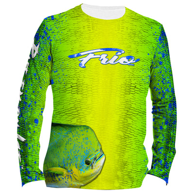 Frio Performance L/S Fishing Shirt w/ Mahi Mahi Art