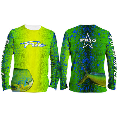 Frio Performance L/S Fishing Shirt w/ Mahi Scales