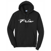 Frio Script Fleece Pullover Hooded Sweatshirt