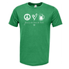 Frio Peace Love Beer Short Sleeve Shirt