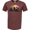 Frio Maroon Sunset Buffalo Short Sleeve Shirt