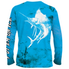 Frio Performance L/S Fishing Shirt w/ Blue Marlin