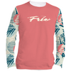 Frio Ladies Long Sleeve Solar Shirt w/ Circle Palm Trees