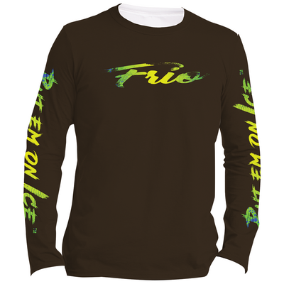Frio Performance L/S Fishing Shirt w/ Mahi Mahi Script