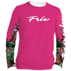 Frio Ladies Long Sleeve Solar Shirt - Pink Tropical