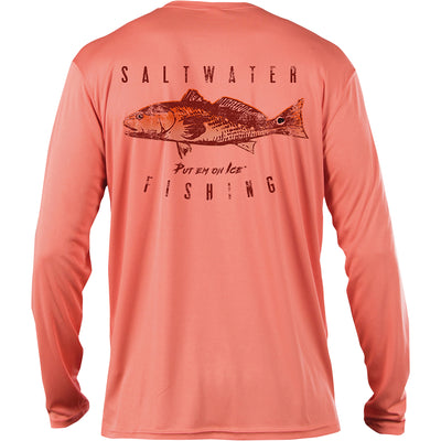 Frio Long Sleeve Redfish - Salmon - Frio Ice Chests