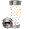 Frio 24-7 Cup w/ Bottle Opener and 3M Vinyl Wrap - Valentine's Day Hearts
