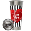 Frio 24-7 Cup w/ Bottle Opener and 3M Vinyl Wrap - Valentine's Day I Love You