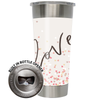 Frio 24-7 Cup w/ Bottle Opener and 3M Vinyl Wrap - Valentine's Day Love
