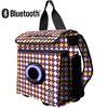 The 360 Backpack Cooler Fleur De Lis Purple & Gold Pattern