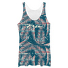 Ladies Solar Racerback Tank - Palm Leaves
