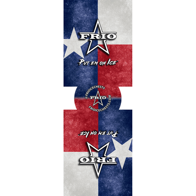 Frio Slim Can Beverage Hugger 6 Pack - Texas Flag
