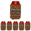 Frio Can Beverage Hugger 6 Pack - LEATHER