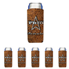 Frio Slim Can Beverage Hugger 6 Pack - Leather