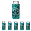 Frio Slim Can Beverage Hugger 6 Pack - Turquoise Stone