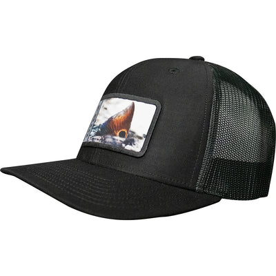 Frio Richardson 112 Black/ Black Mesh Cap w/ Redfish Badge - Frio Ice Chests