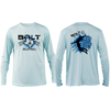 Bolt Volleyball Long Sleeve Tee- Artic Blue