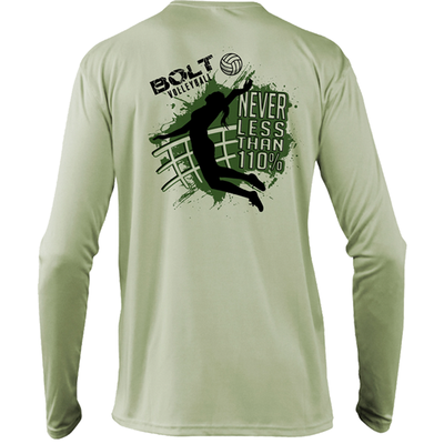 Bolt Volleyball Long Sleeve Tee- Sage