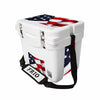 Frio 25 Qt White w/ 5 Panel 3M Vinyl USA Theme - Frio Ice Chests