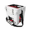 Frio 25 Qt White w/ 5 Panel 3M Vinyl Thin Red Line USA Flag Theme - Frio Ice Chests