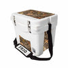 Frio 25 Qt White w/ 5 Panel 3M Vinyl King's Camo Woodland Theme - Frio Ice Chests
