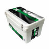 Frio 65 Qt White w/ 5 Panel 3M Vinyl Thin Green Line Texas Flag Them - Frio Ice Chests