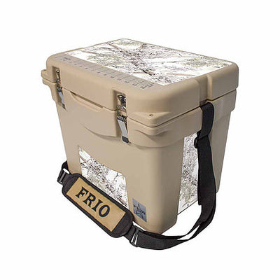 Frio 25 Qt White w/ 5 Panel 3M Vinyl King's Camo Snow Theme - Frio Ice Chests
