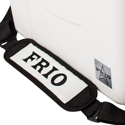 Frio 25 Qt White w/ 5 Panel 3M Vinyl Thin Blue/Red Line Texas Flag Theme - Frio Ice Chests