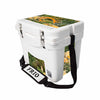 Frio 25 Qt White w/ 5 Panel 3M Vinyl Hook and Stag Theme - Frio Ice Chests