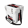 Frio 25 Qt White w/ 5 Panel 3M Vinyl Thin Red Line Texas Flag Theme - Frio Ice Chests