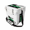 Frio 25 Qt White w/ 5 Panel 3M Vinyl Thin Green Line Texas Flag Theme - Frio Ice Chests