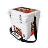 Frio 25 Qt White w/ 5 Panel 3M Vinyl Texas Theme - Frio Ice Chests
