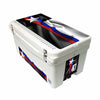 Frio 65 Qt White w/ 5 Panel 3M Vinyl Thin Blue/ Red Line Texas Flag Theme - Frio Ice Chests