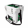 Frio 25 Qt White w/ 5 Panel 3M Vinyl Thin Green Line USA Flag Theme - Frio Ice Chests