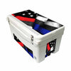 Frio 65 Qt White w/ 5 Panel 3M Vinyl Thin Blue/ Red Line USA Flag Theme - Frio Ice Chests