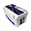 Frio 65 Qt White w/ 5 Panel 3M Vinyl Thin Blue Line Texas Flag Theme - Frio Ice Chests
