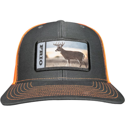 Frio Richardson 112 Grey/ Orange Mesh Cap w/ Deer Badge - Frio Ice Chests