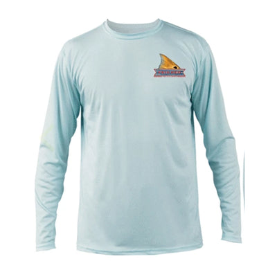 Vapor Solar Performace Long Sleeve in Arctic Blue with Redfish art