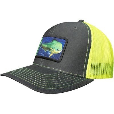 Frio Richardson 112 Grey/ Yellow Mesh Cap w/ Mahi Badge - Frio Ice Chests