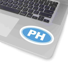 Load image into Gallery viewer, PH Euro Oval Sticker Solid CAROLINA BLUE