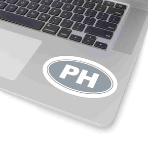 PH Euro Oval Sticker Solid GREY