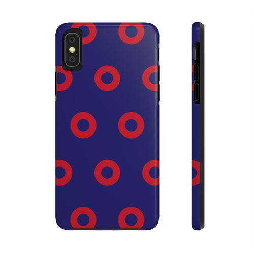 Red Circle Donut Case Mate Tough Phone Cases - PH