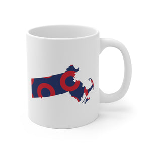 Massachusetts, Red Circle Donut Coffee Mug - State Shape - PH