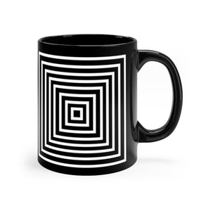 Kasvot Vaxt Optical Squares Black mug 11oz - PH