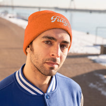 Load image into Gallery viewer, Fuego Embroidered Knit Beanie