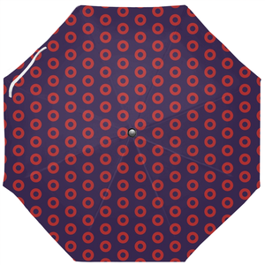 Red Henrietta Circle Donut Umbrella Version1