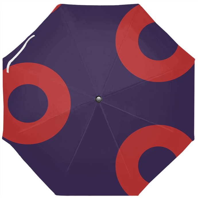 Red Henrietta  Circle Donut Umbrella Version 5